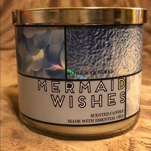 Mermaid Wishes BBW 3 wick candle
